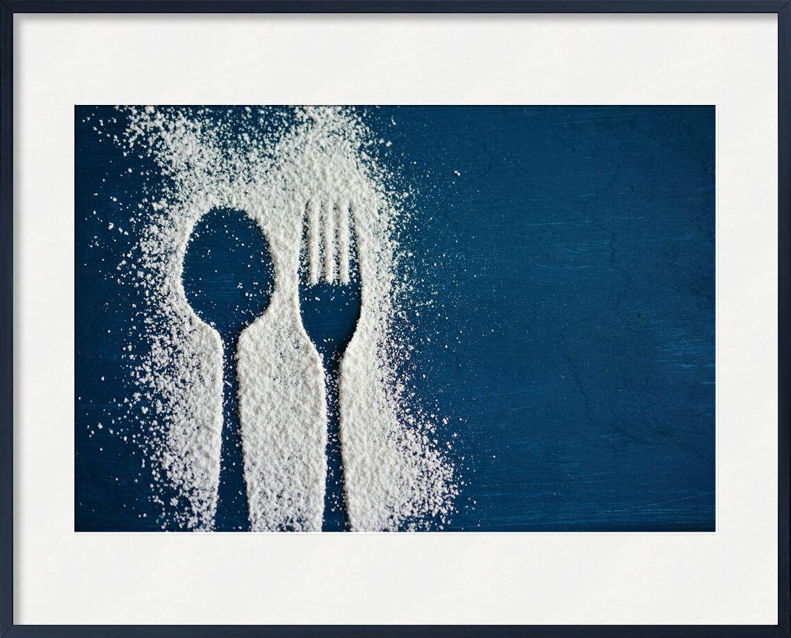 Salt and cutlery from Pierre Gaultier, Prodi Art, blue, table, salt, spoon, fork