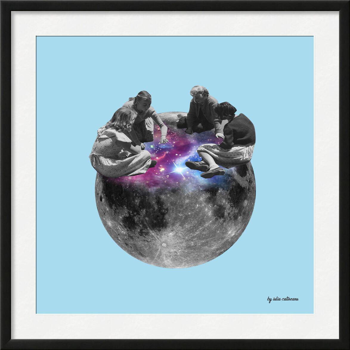 On the moon de IULIA CATINEANU, Prodi Art, abstrait, lune, art, pop Art, surrealisme, univers