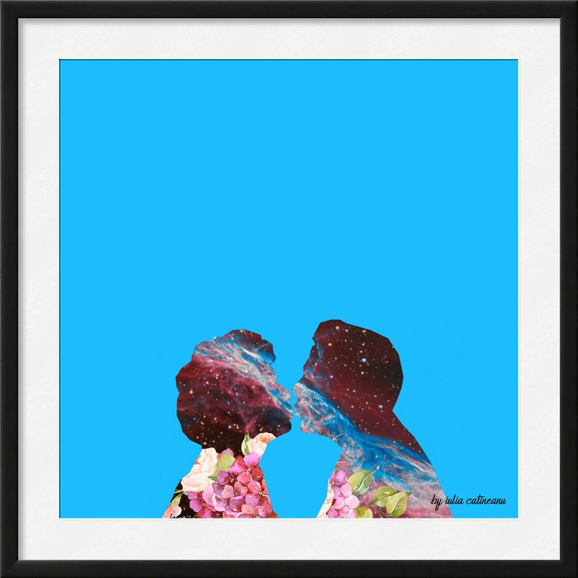 Space love de IULIA CATINEANU, Prodi Art, pop Art, bleu, amour, couple, univers