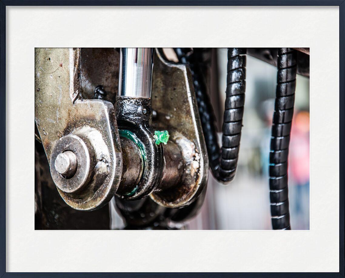 Diamant vert - Grand éléphant de Marie Guibouin, Prodi Art, émeraude, graisse, machines de l'ile, nantes, marie guibouin, mécanique, vert, diamant, éléphant