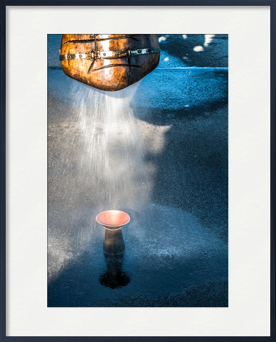 Aude Fabrik de Marie Guibouin, Prodi Art, machines de l'ile, nantes, marie guibouin, pluie, bleu, vin, céramique, éléphant, eau, crachoir à vin, aude factory, artisanat