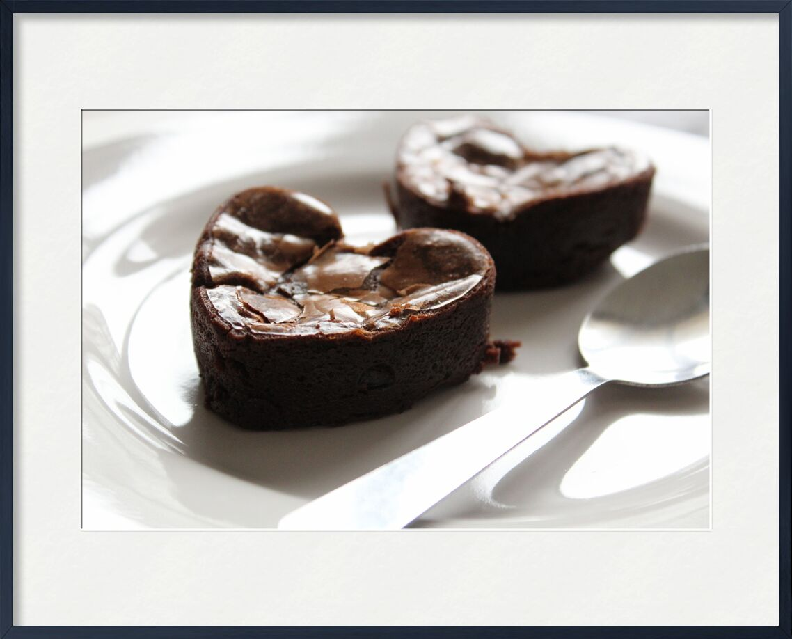 Coeur de chocolat de jenny buniet, Prodi Art, dessert, coeur, chocolat