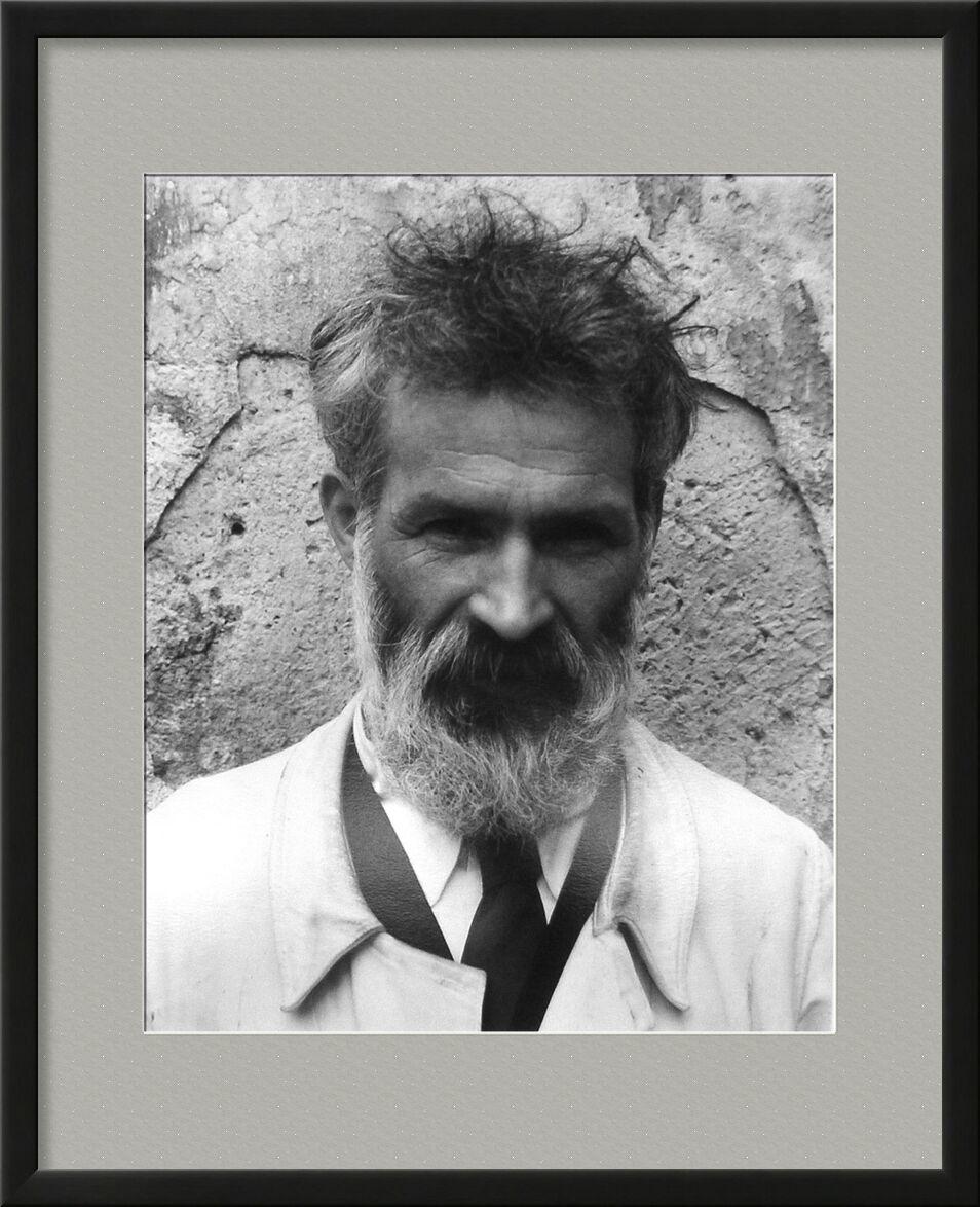 Brancusi dans son atelier - Edward Steichen 1922 de Aux Beaux-Arts, Prodi Art, portrait, Edward Steichen, barbe, noir et blanc, atelier de travail
