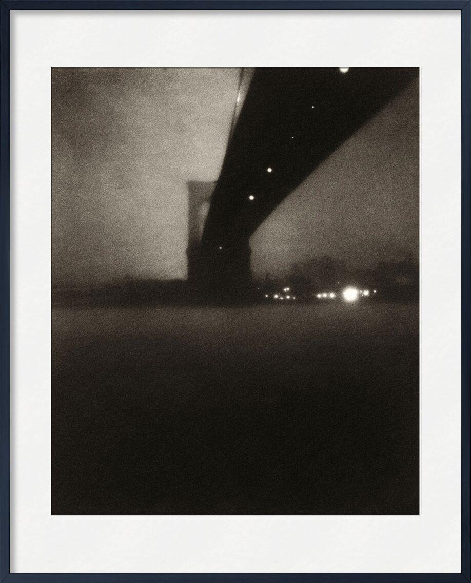 Brooklyn bridge - Edward Steichen 1903 from AUX BEAUX-ARTS, Prodi Art, edward steichen, city, River, black-and-white, Brooklyn, pont de Brooklyn