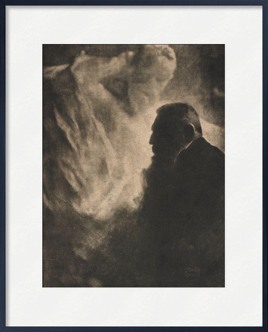 Portrait de Rodin. Photogravure dans Camera Work - Edward Steichen 1902 de AUX BEAUX-ARTS, Prodi Art, Robin, portrait, noir et blanc, Edward Steichen, auguste robin, veille photo