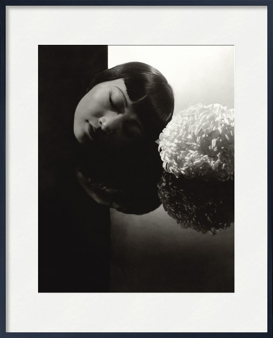 Confession à Hollywood  Anna May Wong - Edward Steichen 1931 de Aux Beaux-Arts, Prodi Art, femme, yeux, noir et blanc, Edward Steichen, Hollywood, confession