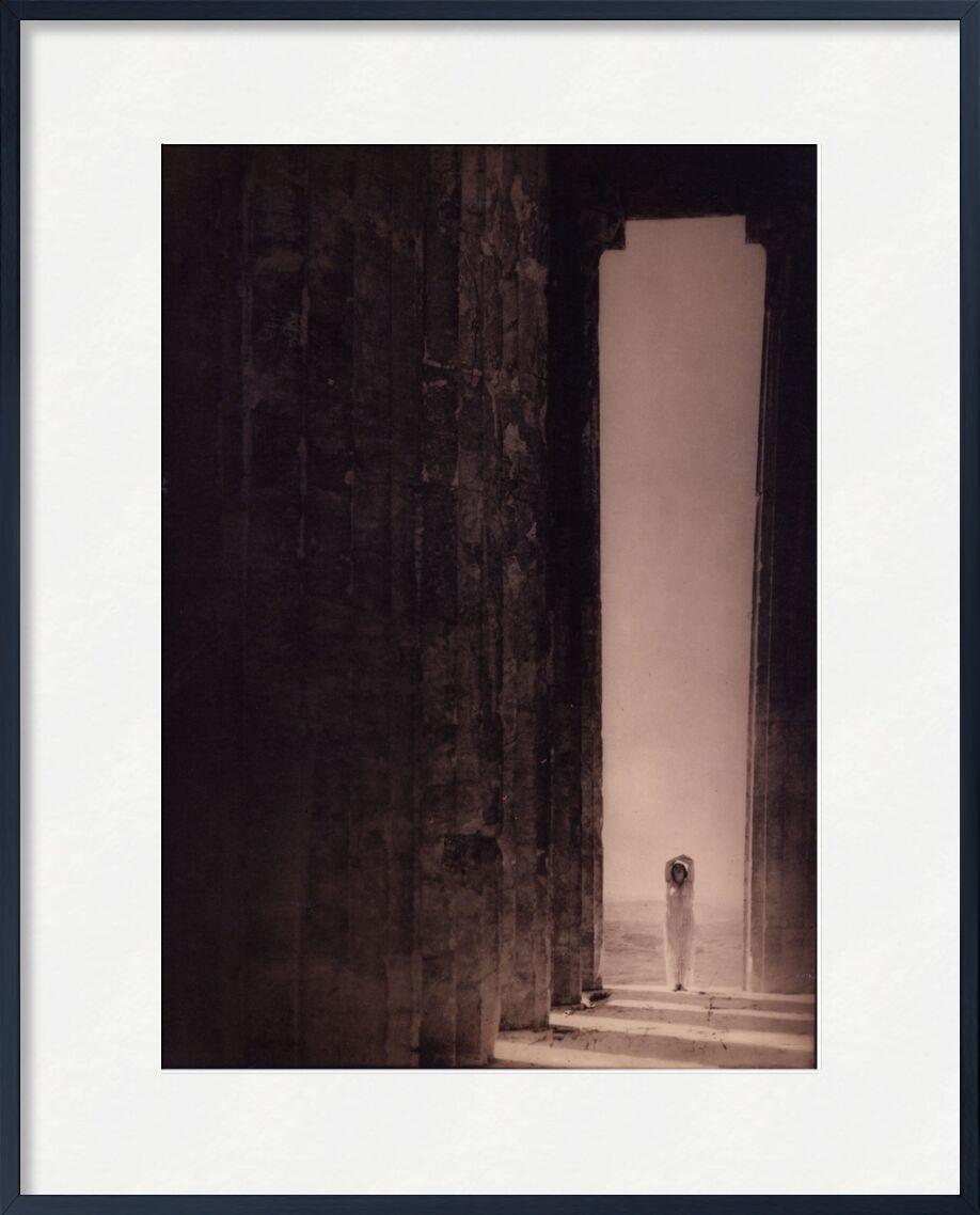 Isadora Duncan dans le Parthénon - Edward Steichen 1921 de Aux Beaux-Arts, Prodi Art, sable, désert, noir et blanc, Edward Steichen, Egypte, Panthéon, Parthénon, pyramide