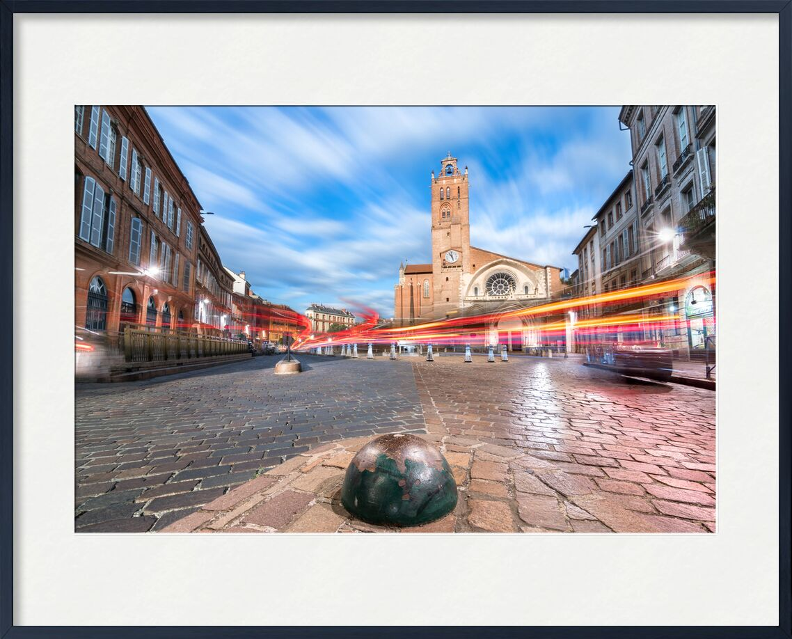 Cathédrale Saint-Etienne from Tanguy Chausson, Prodi Art, light, lights, motion, monument, history, city, street, occitanie, night, night photo, toulouse, long pose, cathedral, saint