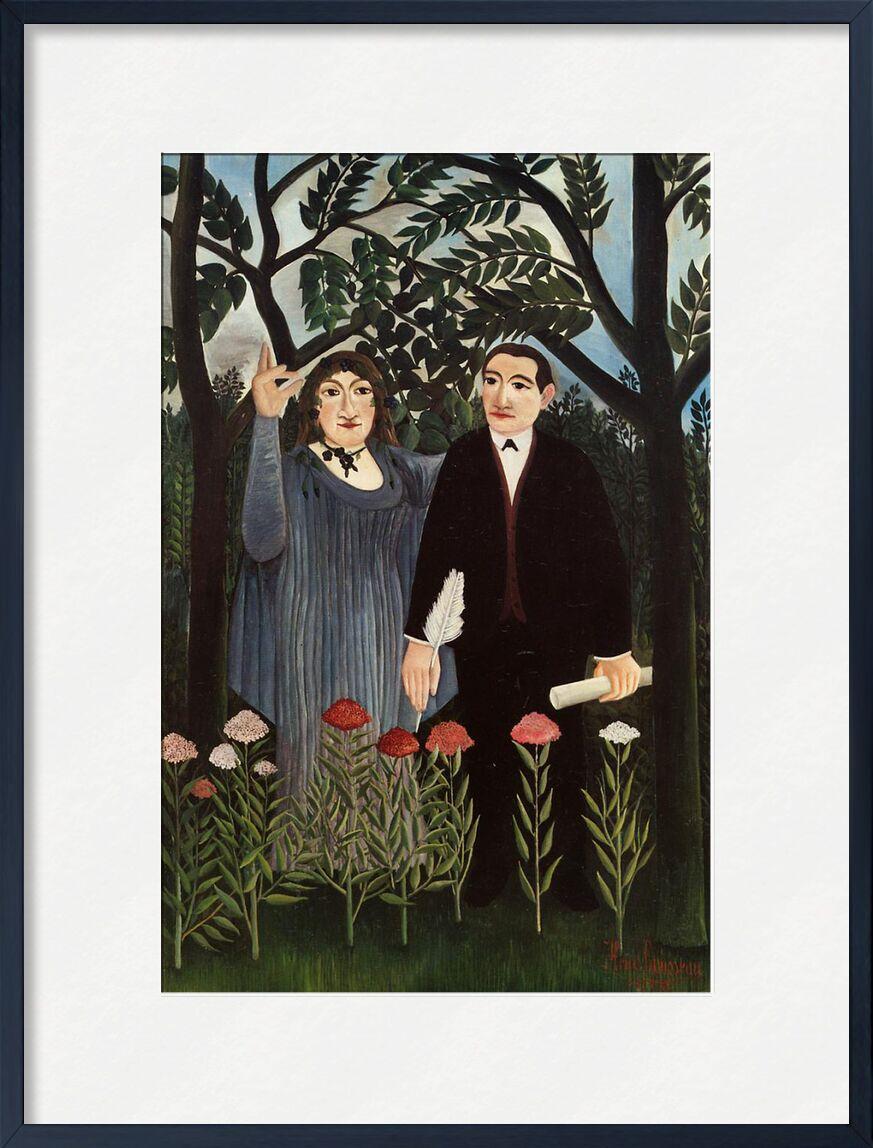 La muse inspirant le poète de AUX BEAUX-ARTS, Prodi Art, Rousseau, fleurs, forêt, peinture, arbres