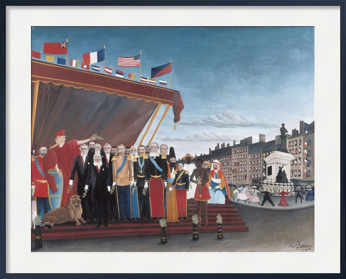 The Representatives of Foreign Powers Coming to Salute the Republic as a Sign of Peace desde AUX BEAUX-ARTS, Prodi Art, potencias extranjeras, país, pintura, ciudad, Rousseau