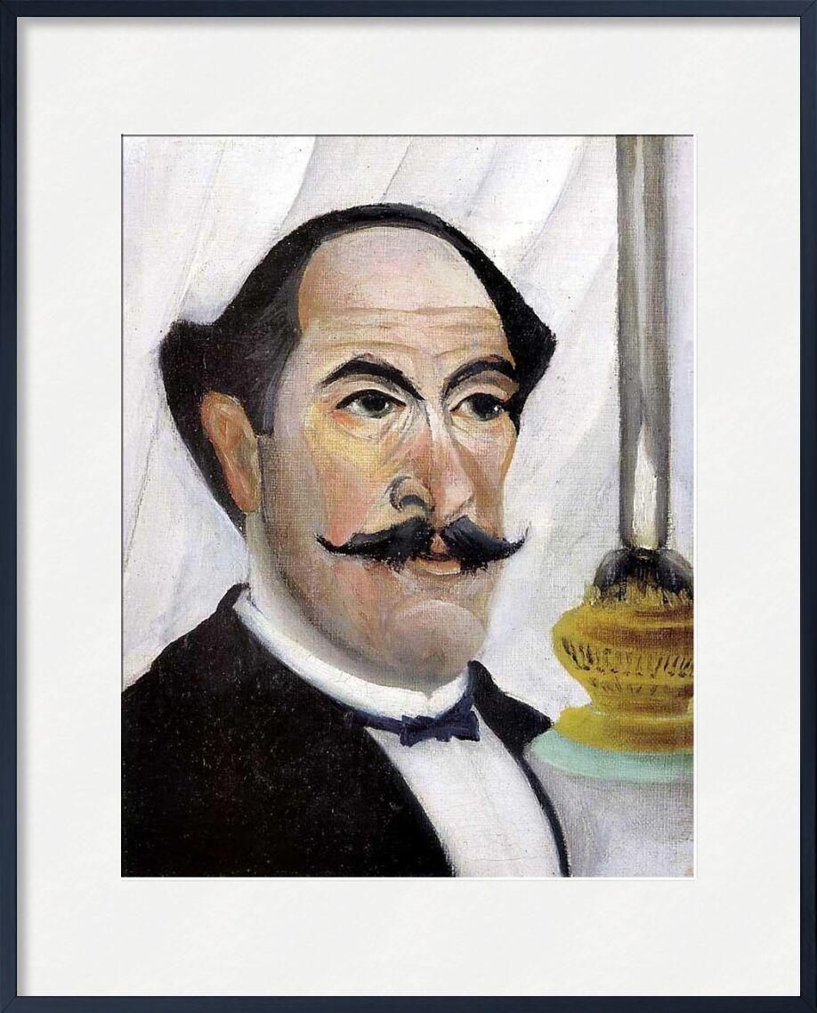 Portrait de l'artiste par lui même à la lampe de AUX BEAUX-ARTS, Prodi Art, peinture, lampe, portrait, Rousseau