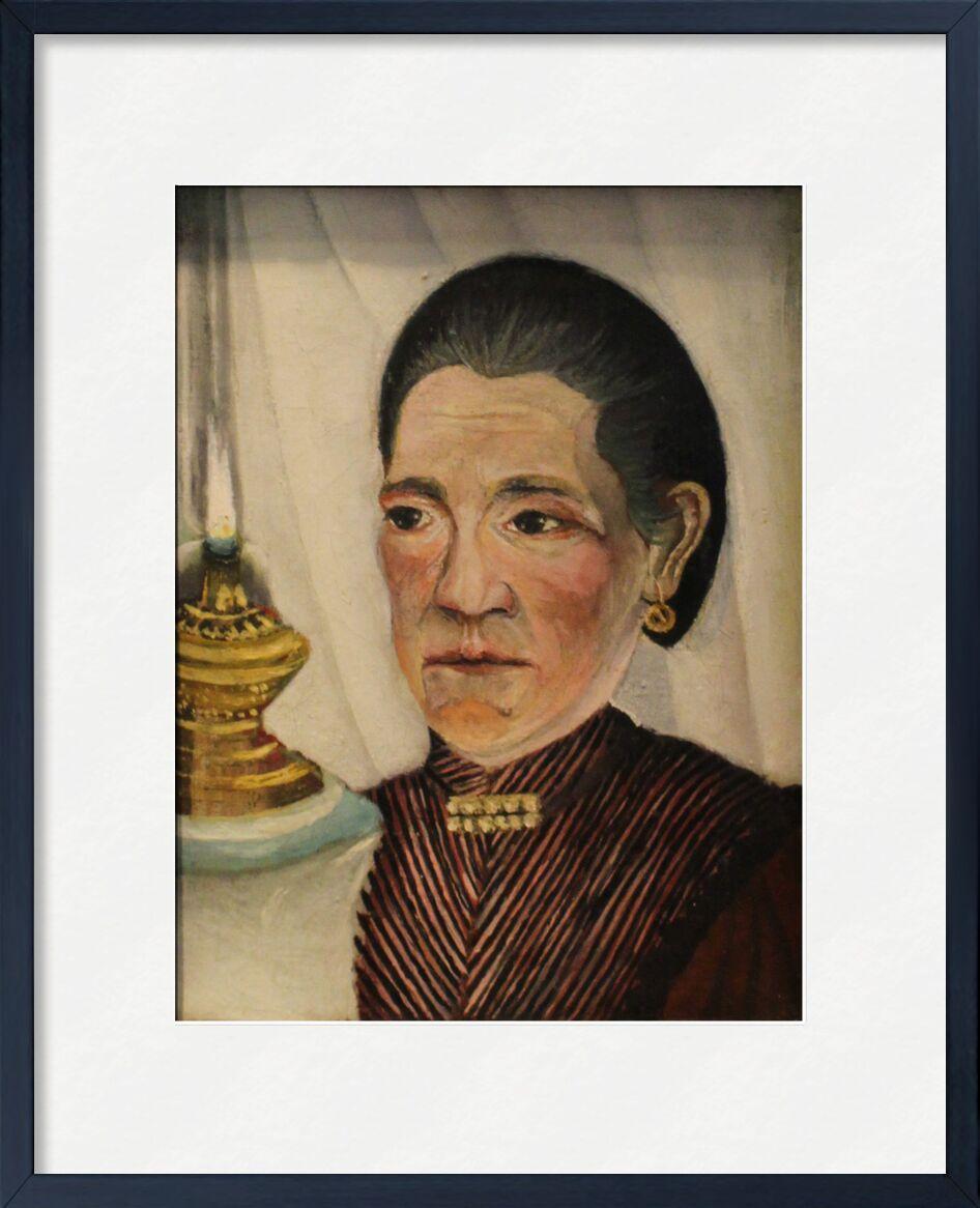 Portrait de la seconde femme de l'artiste à la lampe de AUX BEAUX-ARTS, Prodi Art, Rousseau, femme, lampe, portrait, épouse