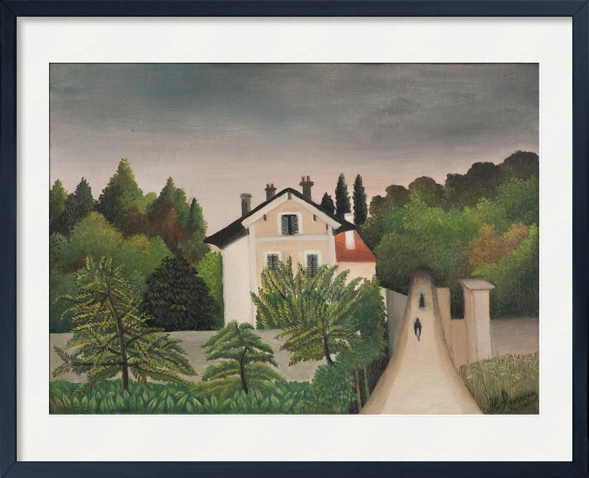 Landscape Taken on the Edges of Oise, Territory of Chaponval from AUX BEAUX-ARTS, Prodi Art, rousseau, landscape, House, forest, sky, trees