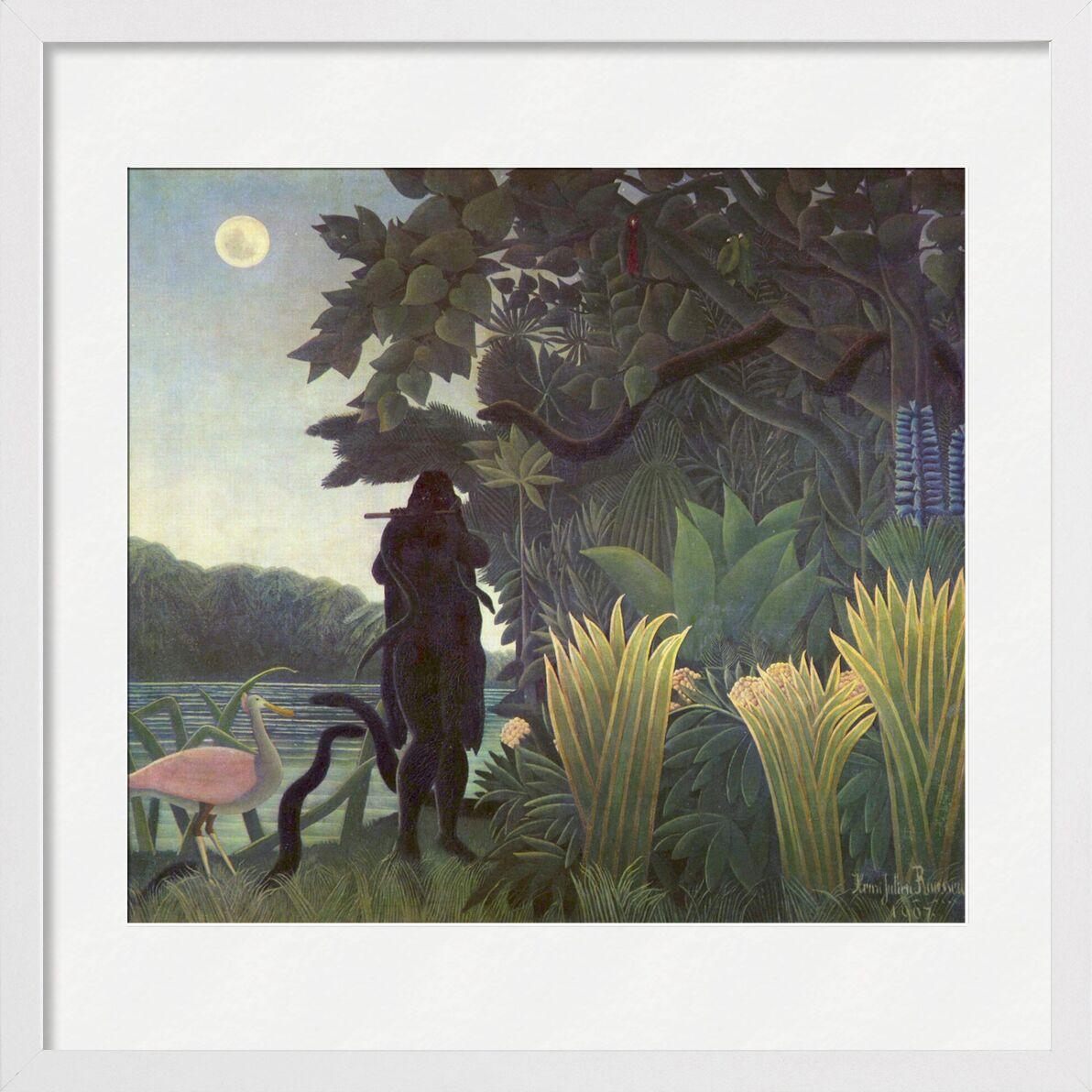 La Charmeuse de serpents de AUX BEAUX-ARTS, Prodi Art, charmeur de serpent, charmeur, serpents, jungle, forêt, lune, Rousseau, nature