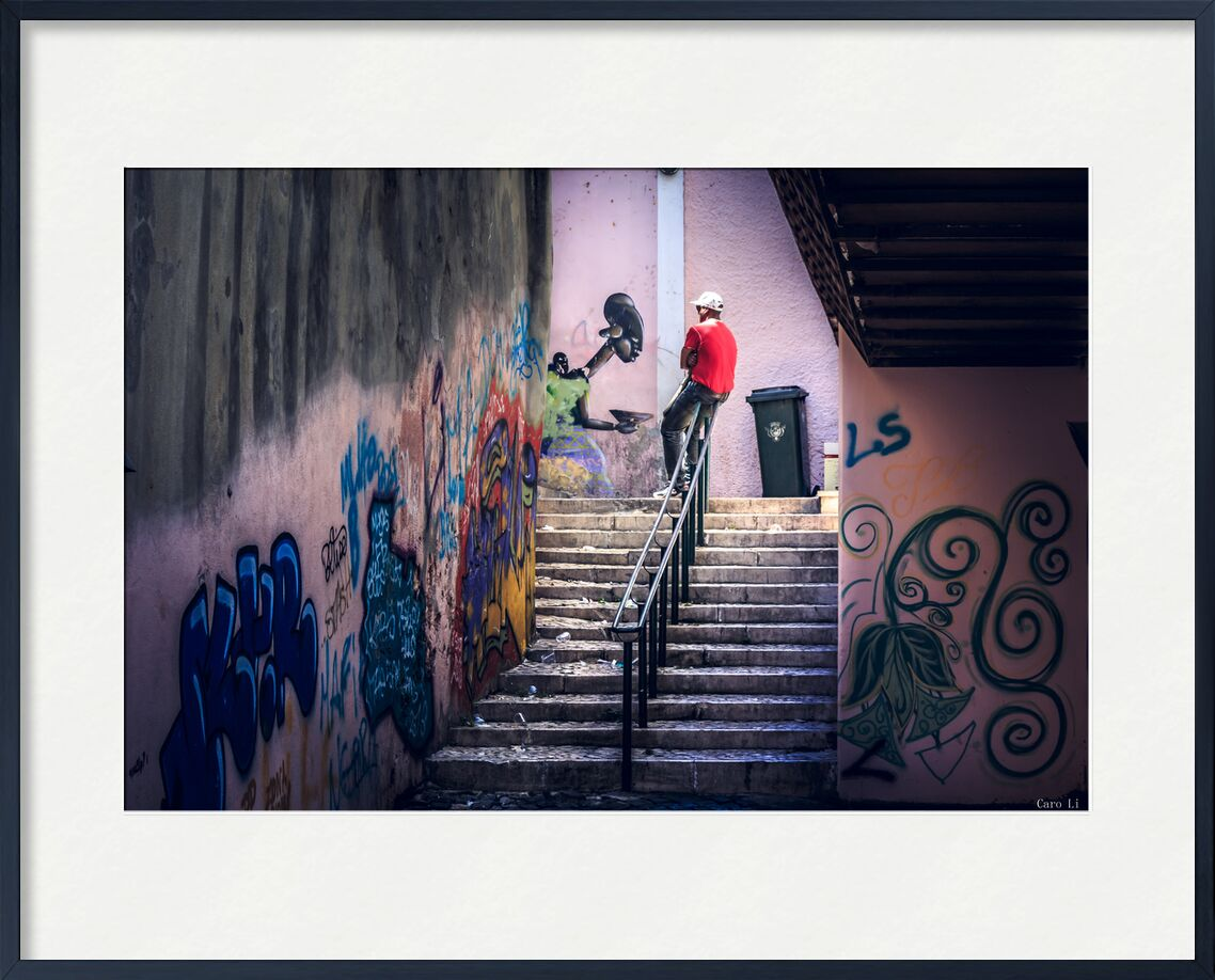 La pause de Caro Li, Prodi Art, étiquette, Cher Li, Lisbonne, le Portugal, art de rue, rue, art de rue, Photographie