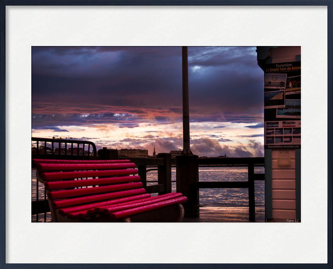 Le Banc de Caro Li, Prodi Art, le banc, Le banc, arcachon, France, coucher de soleil, couché de soleil, mer, mer