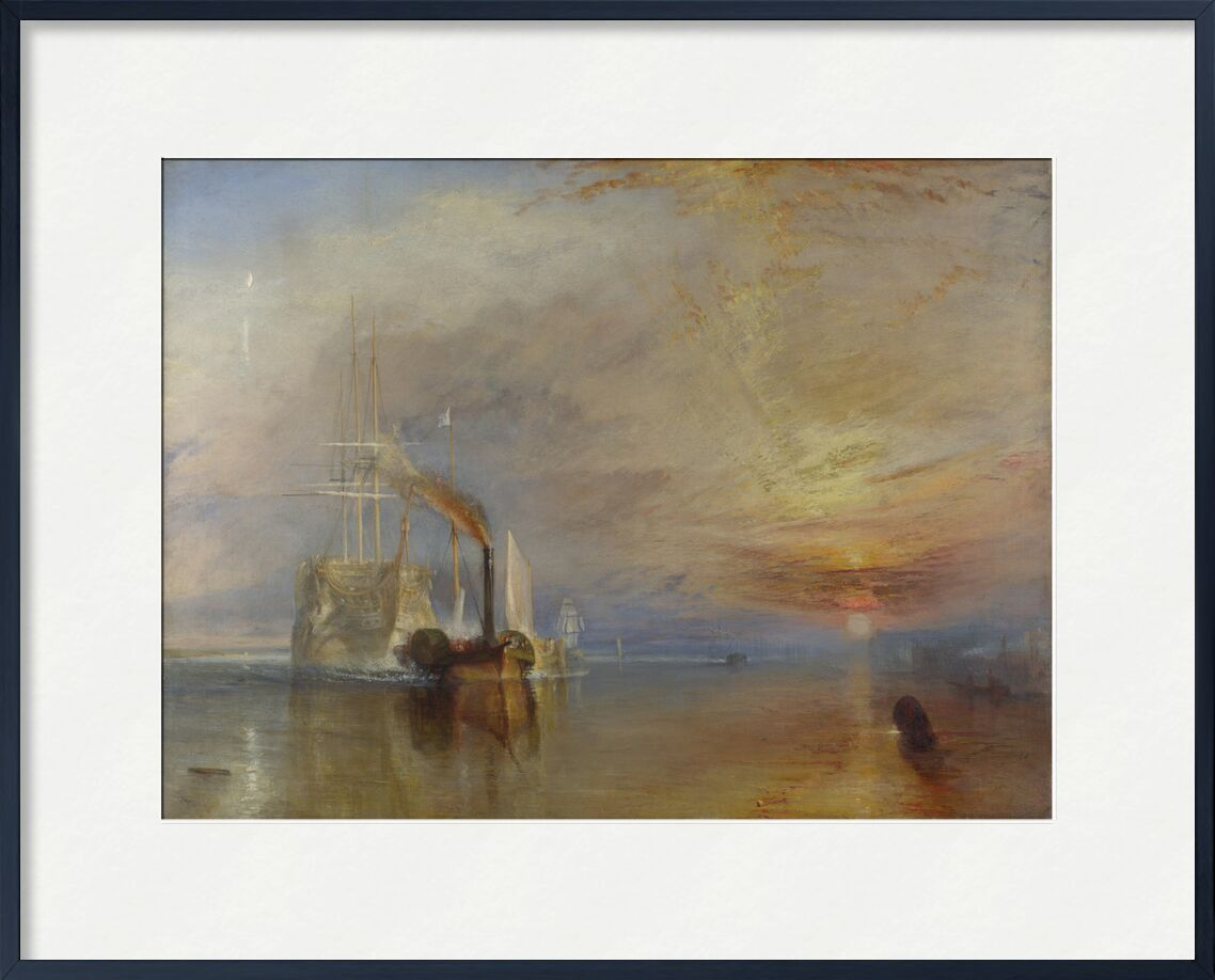 The Fighting Temeraire - WILLIAM TURNER 1883 from Aux Beaux-Arts, Prodi Art, boat, sea, sky, clouds, Sun, painting, reflection, WILLIAM TURNER