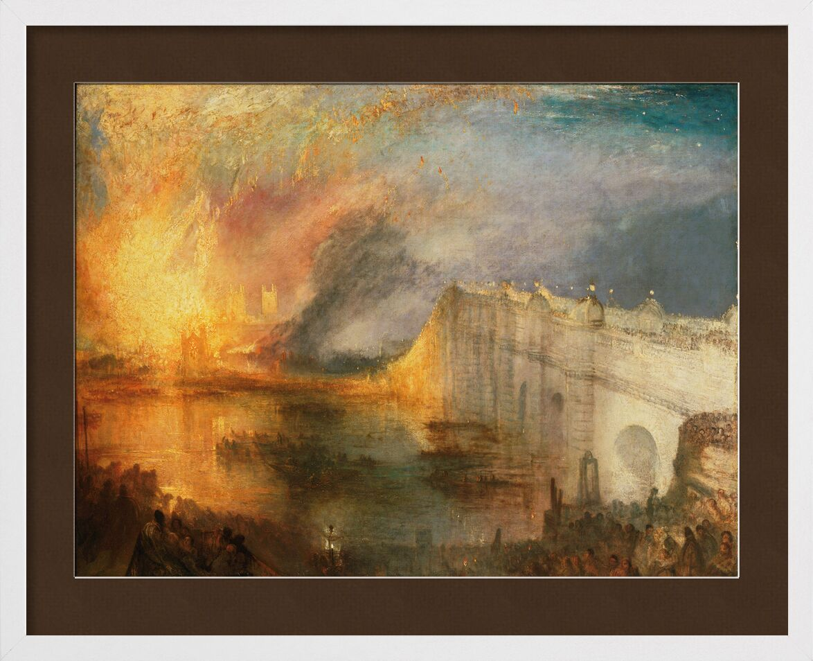 The Burning of the Houses of Lords and Commons - WILLIAM TURNER 1834 from AUX BEAUX-ARTS, Prodi Art, House of Lords, lords, fire, WILLIAM TURNER, painting, london