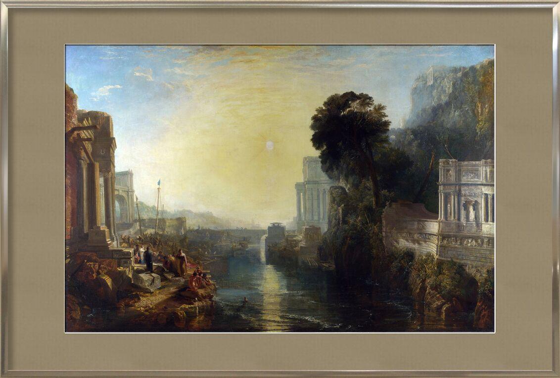 Dido Building Carthage - WILLIAM TURNER 1815 desde AUX BEAUX-ARTS, Prodi Art, travesura, pintura, WILLIAM TURNER, cielo, sol, construcción, río