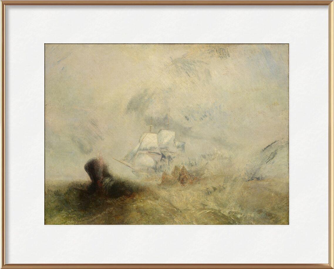 Lever de soleil avec monstres marins - WILLIAM TURNER 1840 de AUX BEAUX-ARTS, Prodi Art, mer, bateau, pêche, WILLIAM TURNER, peinture, monstre marin, pêcheur