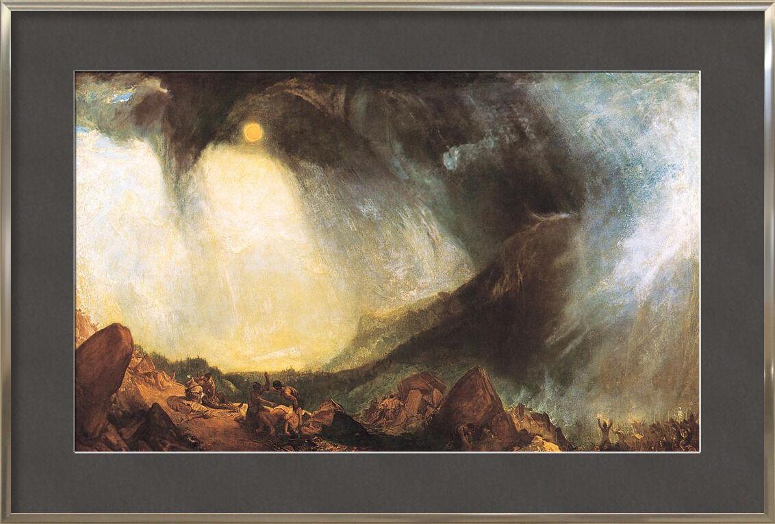 Snow Storm: Hannibal and his army crossing the Alps - WILLIAM TURNER 1812 von AUX BEAUX-ARTS, Prodi Art, Hannibal, Armee, WILLIAM TURNER, Malerei, Sonne, Alpen, Berge, Sturm, Schneesturm