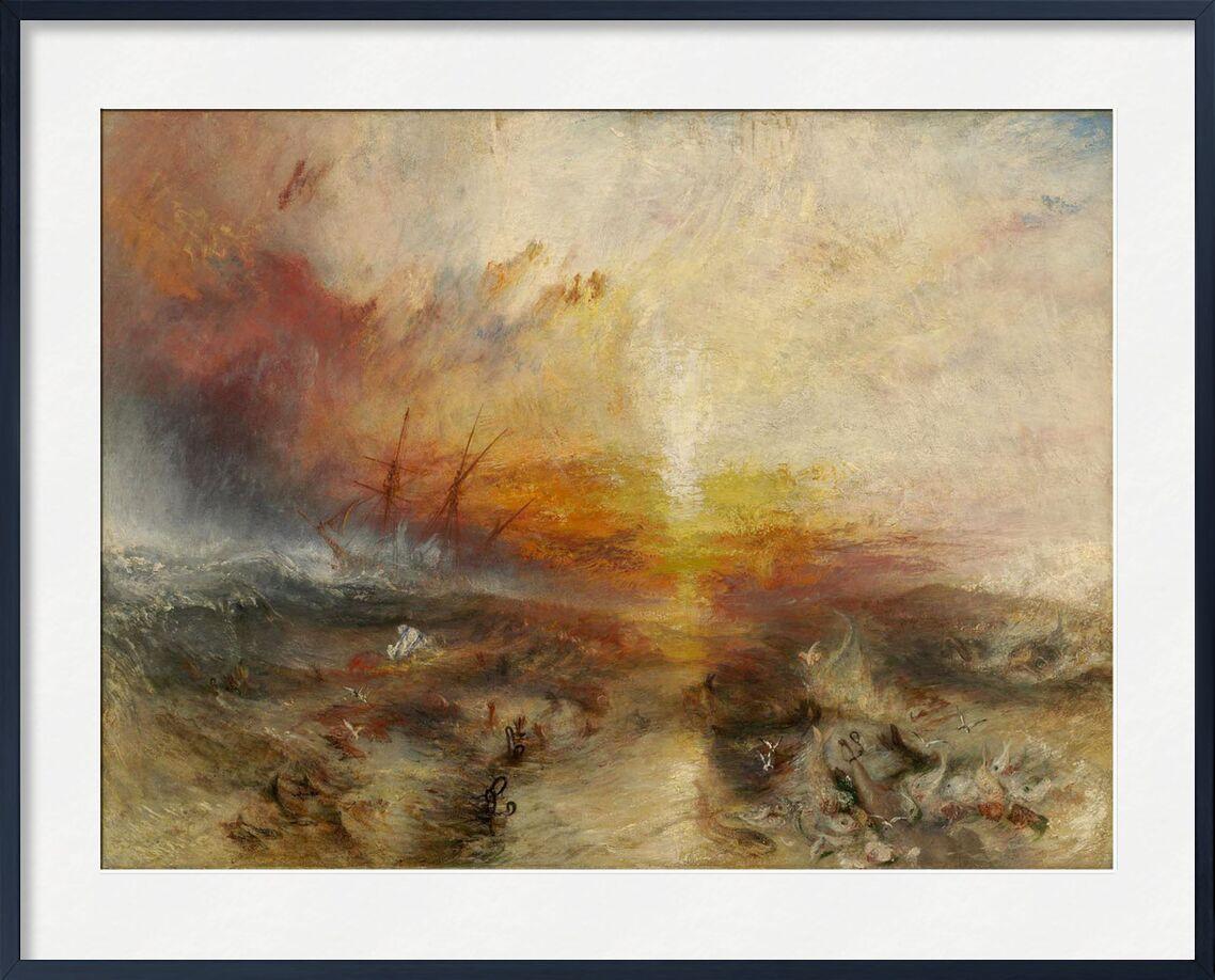 The slave ship - WILLIAM TURNER 1840 von AUX BEAUX-ARTS, Prodi Art, Sklave, Geifer, Malerei, WILLIAM TURNER, Sonne, Afrika, schwarz, Ozean, Boot