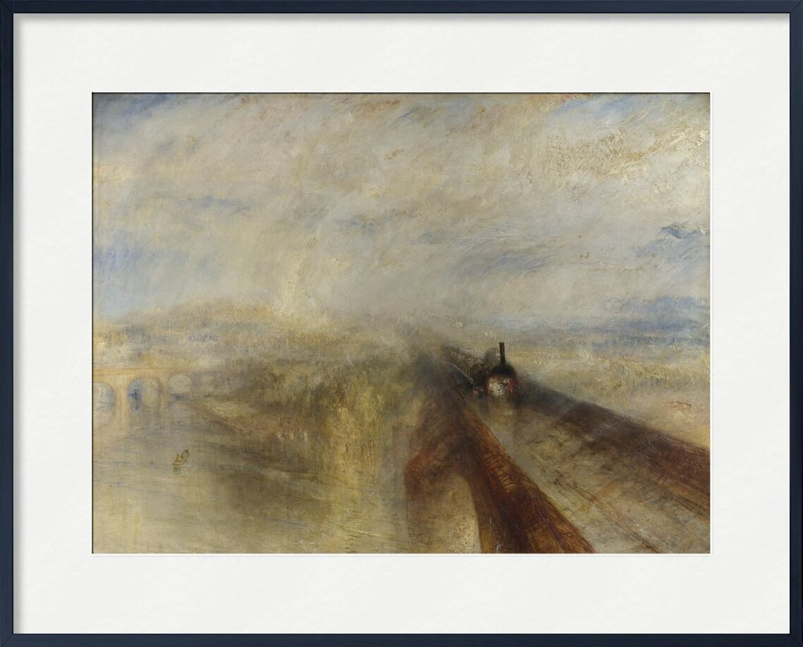 Rain, Steam and Speed – The Great Western Railway - WILLIAM TURNER 1844 from AUX BEAUX-ARTS, Prodi Art, west, steam, painting, WILLIAM TURNER, railway, speed, rain