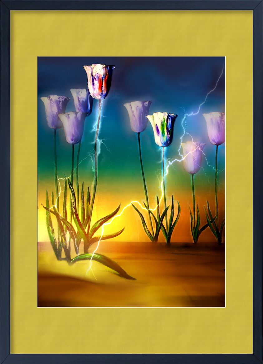 Vital energy from Adam da Silva, Prodi Art, beautiful flowers, lightning, yellow, water, pot, plant, petals, nature, leaves, growth, green, flowers, flora, decorative, decoration, colors, close-up, bright, botanical, flower, blooming, bloom, sky, blue