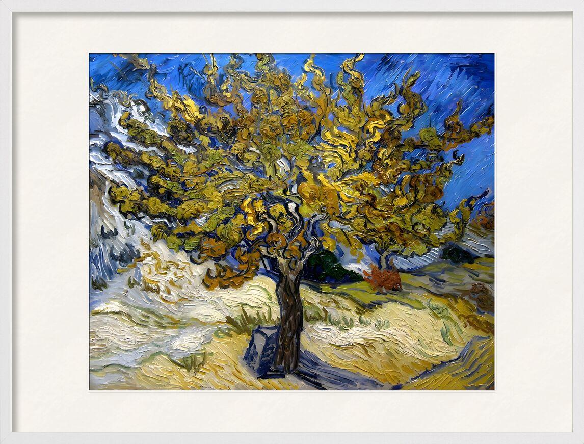 Mulberry Tree at  Saint-Rémy - 1889 VINCENT VAN GOGH from Aux Beaux-Arts, Prodi Art, oil painting, meadow, blue, VINCENT VAN GOGH, Sun, painting, tree