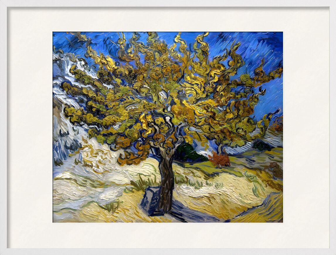 Mulberry Tree at  Saint-Rémy - 1889 VINCENT VAN GOGH desde AUX BEAUX-ARTS, Prodi Art, pintura de aceite, prado, azul, VINCENT VAN GOGH, sol, pintura, árbol