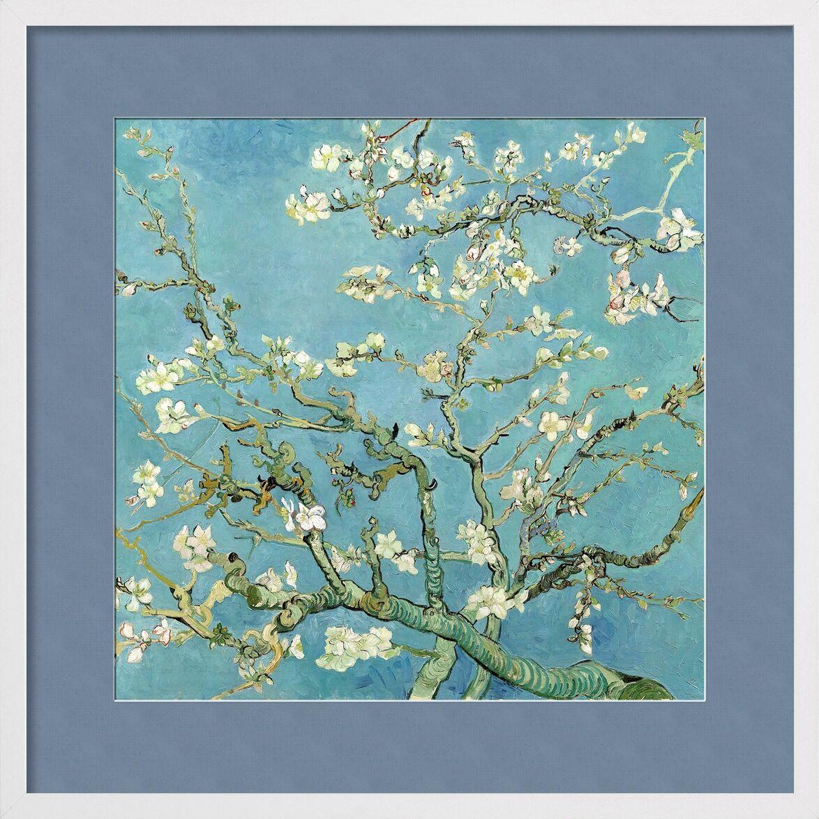 Almond Blossom, Saint-Rémy - VINCENT VAN GOGH 1890 from Aux Beaux-Arts, Prodi Art, flowering tree, VINCENT VAN GOGH, nature, flowers, branch, tree, painting