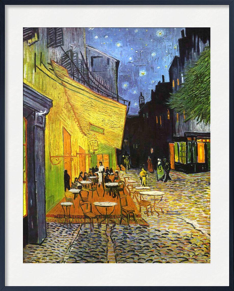 The Café Terrace on the Place du Forum, Arles, at Night - VINCENT VAN GOGH 1888 from Aux Beaux-Arts, Prodi Art, village square, Arles, , village, France, coffee, painting