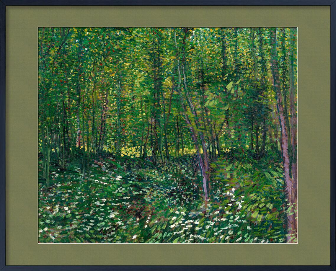 Bois et sous-bois - VINCENT VAN GOGH 1887 de AUX BEAUX-ARTS, Prodi Art, sous-bois, VINCENT VAN GOGH, peinture, fleurs, des arbres, forêt, vert, nature, bois