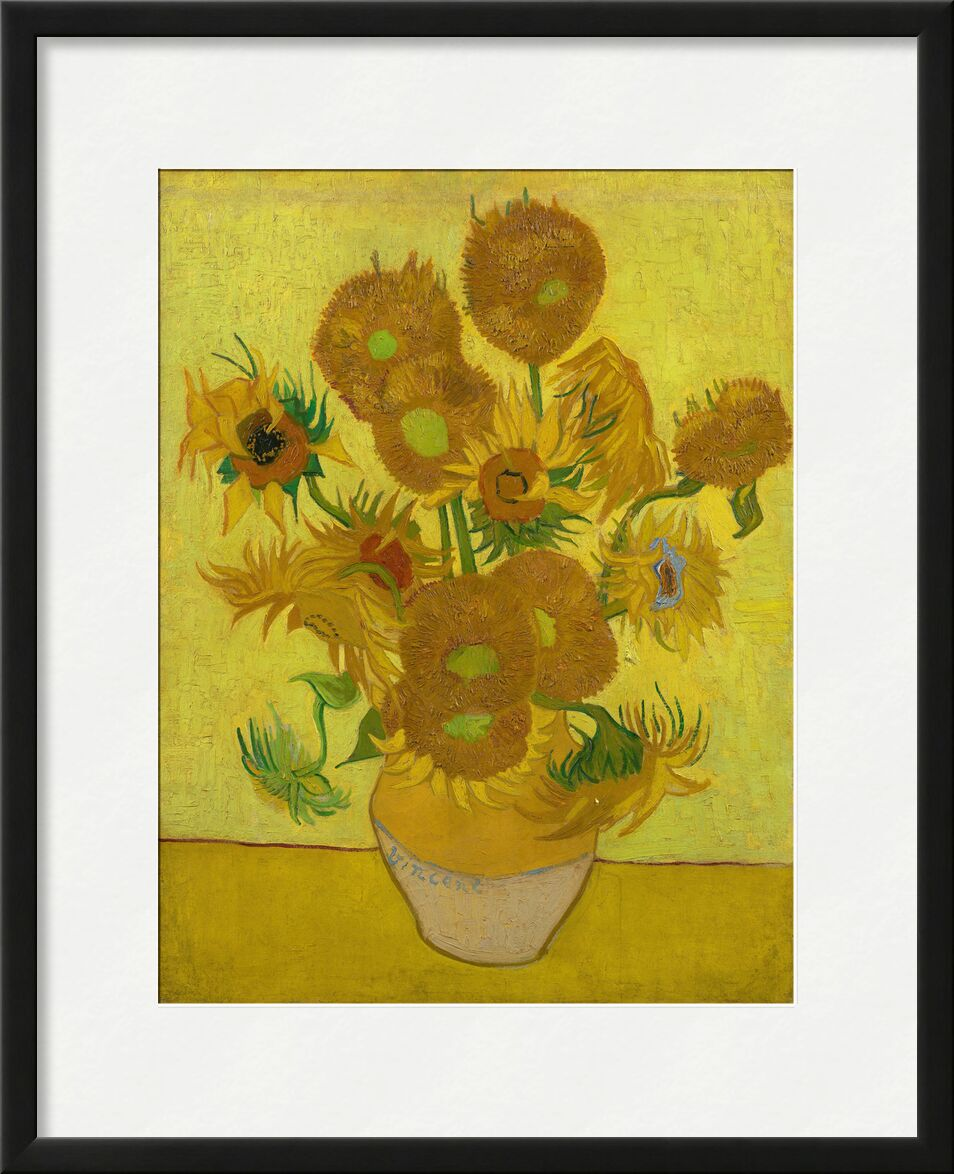 Sunflowers - VINCENT VAN GOGH 1889 from Aux Beaux-Arts, Prodi Art, vase, Deco, dining room, sunflowers, , cooking, table