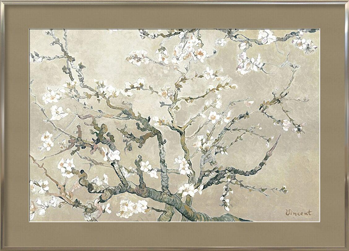 Almond Branches in Bloom, San Remy - VINCENT VAN GOGH 1890 von AUX BEAUX-ARTS, Prodi Art, Malerei, Ast, Mandel, Baum, Blume, blühender Baum, VINCENT VAN GOGH