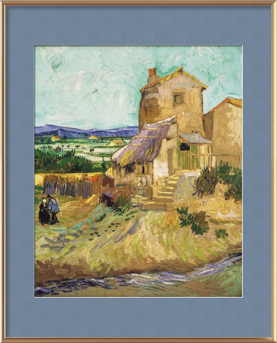 The Old Mill - VINCENT VAN GOGH 1888 from Aux Beaux-Arts, Prodi Art, fields, meadow, peasant, valley, VINCENT VAN GOGH, mill