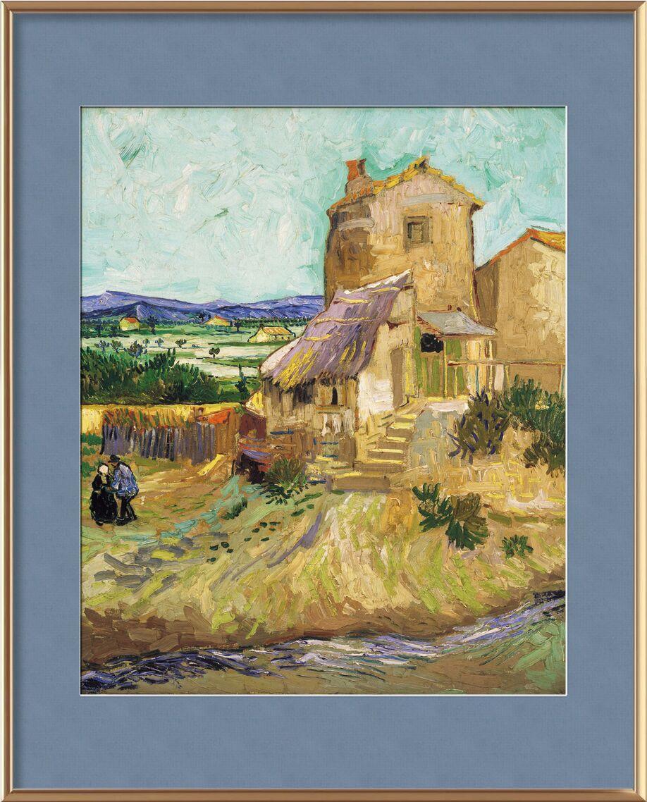 Le vieux moulin - VINCENT VAN GOGH 1888 de AUX BEAUX-ARTS, Prodi Art, moulin, VINCENT VAN GOGH, vallée, paysan, prairie, champs