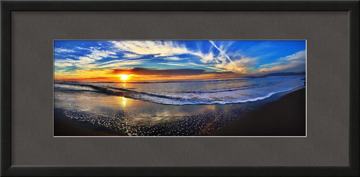 Entre le ciel et la mer de Aliss ART, Prodi Art, plage, Aube, crépuscule, paysage, nature, océan, en plein air, mer, paysage marin, rivage, ciel, soleil, lever du soleil, couché de soleil, eau, panoramic