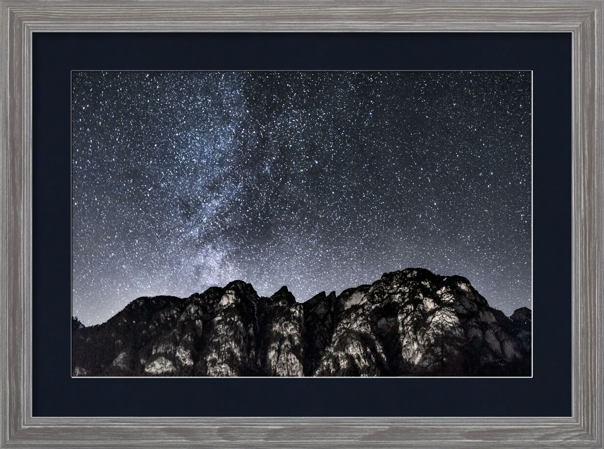 Vers l'espace from Aliss ART, Prodi Art, starry sky, south tyrol, rocky mountain, nightsky, galaxy, constellation, astrology, stars, sky, scenic, outdoors, night, nature, mountains, exploration, dark, outer space, astronomy