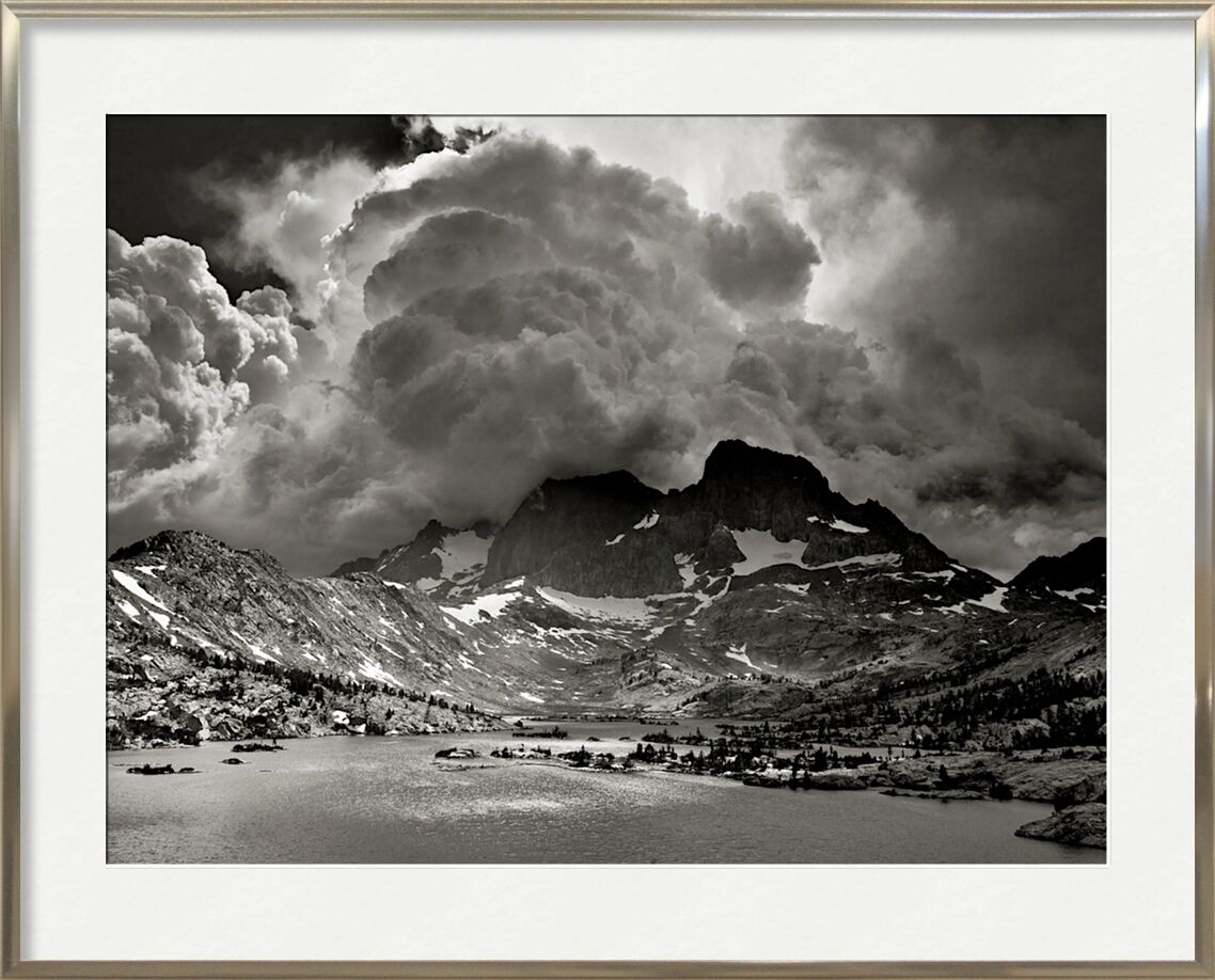 Garnet Lake, California, ANSEL ADAMS from AUX BEAUX-ARTS, Prodi Art, storm, America, United States, California, ANSEL ADAMS, lake, mountains, clouds, forest, trees, tree