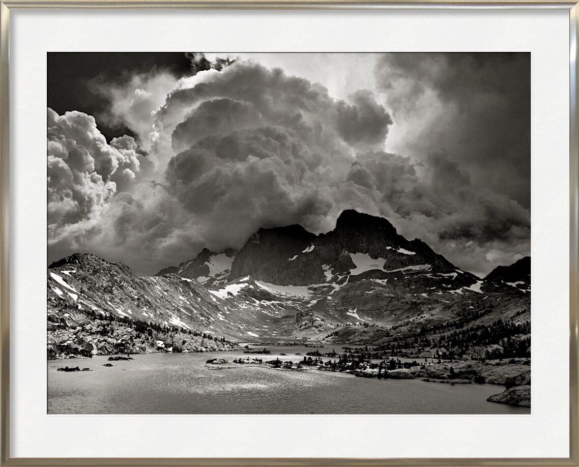 Garnet Lake, California, ANSEL ADAMS von AUX BEAUX-ARTS, Prodi Art, Sturm, Amerika, vereinigte Staaten, Kalifornien, ANSEL ADAMS, See, Berge, Wolken, Wald, Bäume, Baum