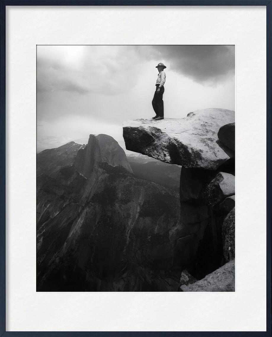 Yosemite, the cowboy - ANSEL ADAMS - 1948 from Aux Beaux-Arts, Prodi Art, mountains, clouds, dark, black-and-white, ANSEL ADAMS, cow-boy, rock