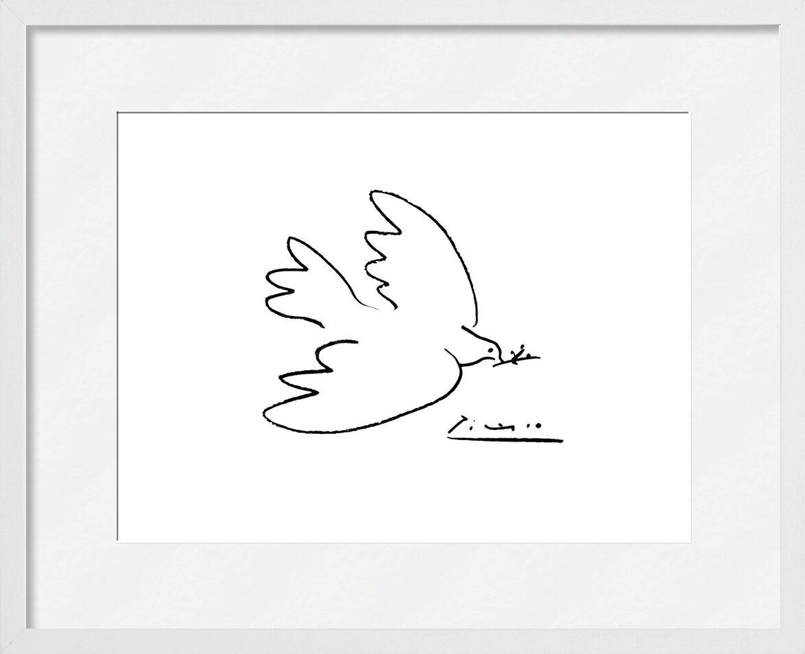 La colombe de paix - PABLO PICASSO de AUX BEAUX-ARTS, Prodi Art, PABLO PICASSO, dessin au crayon, colombe, dessin