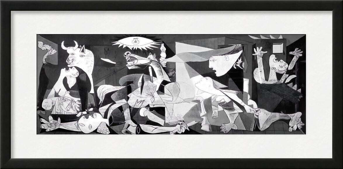 Guernica - PABLO PICASSO de AUX BEAUX-ARTS, Prodi Art, dessin, dessin au crayon, noir et blanc, PABLO PICASSO
