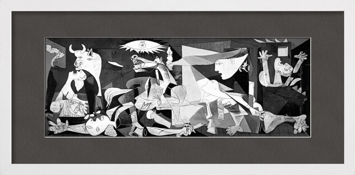 Guernica - PABLO PICASSO from Aux Beaux-Arts, Prodi Art, PABLO PICASSO, black-and-white, pencil drawing, drawing