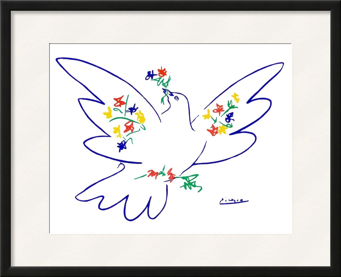 Dove of peace - PABLO ICASSO from Aux Beaux-Arts, Prodi Art, PABLO PICASSO, pencil drawing, drawing, love, peace, dove