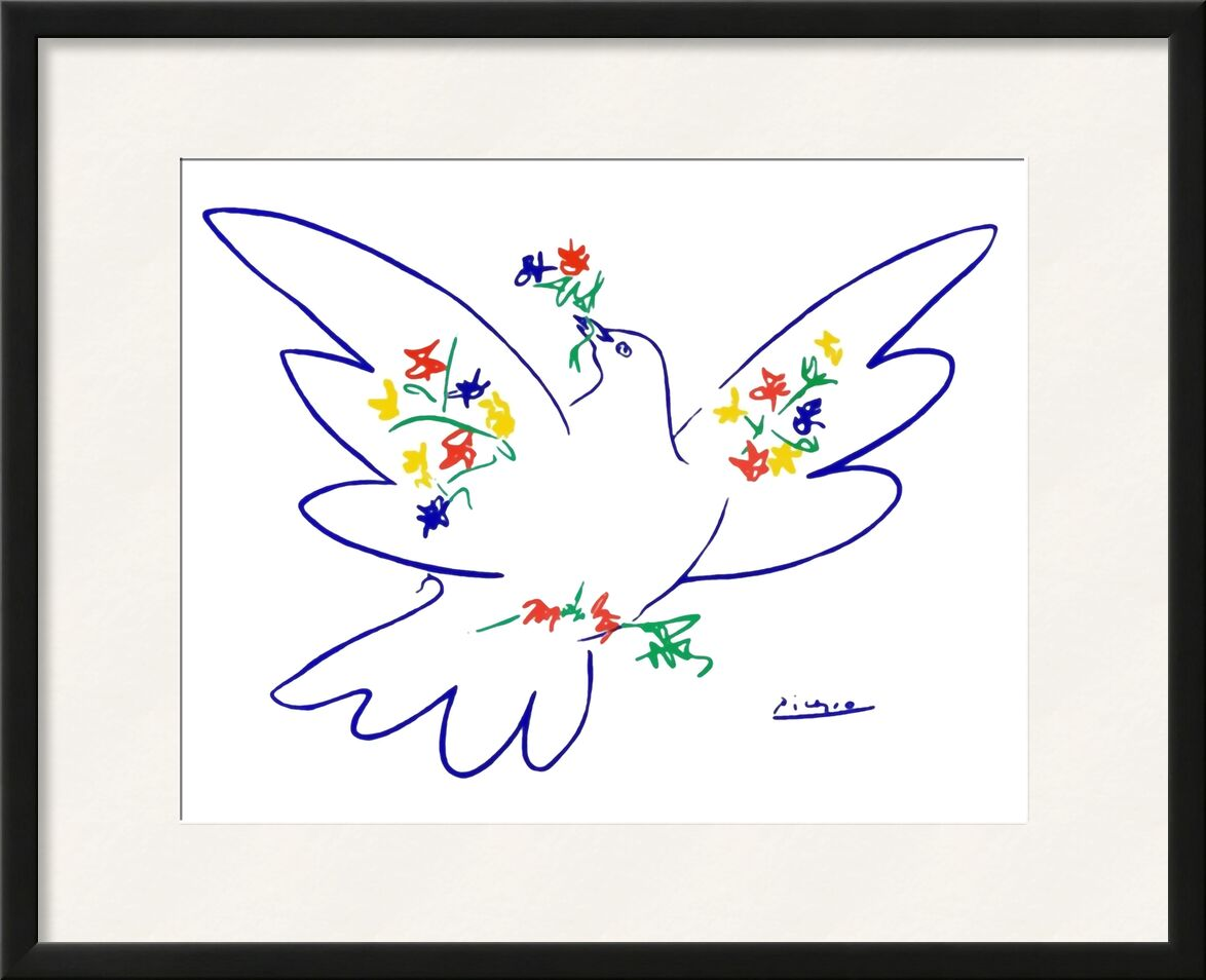 Dove of peace - PABLO PICASSO from AUX BEAUX-ARTS, Prodi Art, dove, peace, love, drawing, pencil drawing, PABLO PICASSO