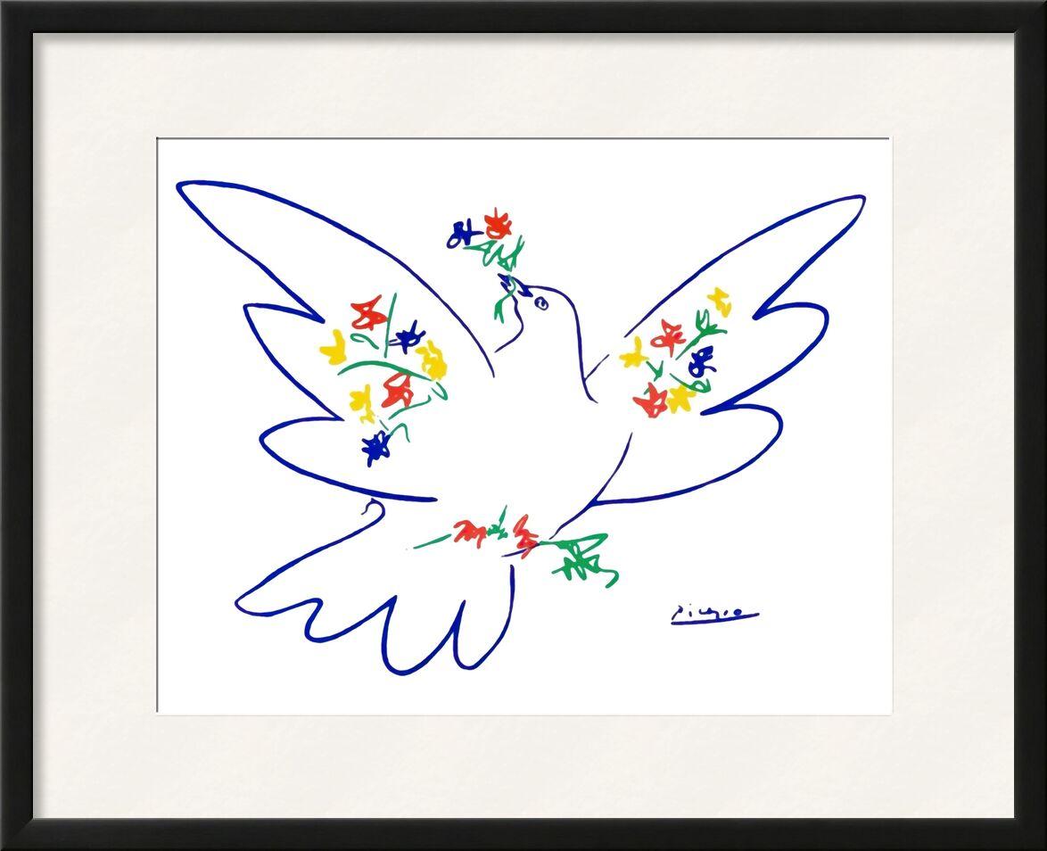 Dove of peace - PABLO PICASSO desde AUX BEAUX-ARTS, Prodi Art, PABLO PICASSO, dibujo a lápiz, dibujo, amor, paz, paloma