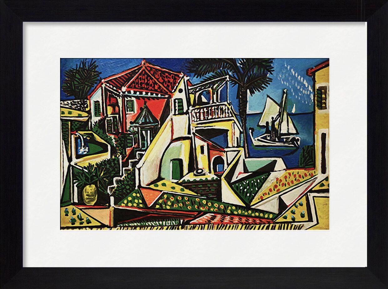 Mediterranean Landscape - PABLO PICASSO von AUX BEAUX-ARTS, Prodi Art, Schale, Meer, Sonne, Urlaub, Strand, Meer, Dorf, Stadt, PABLO PICASSO