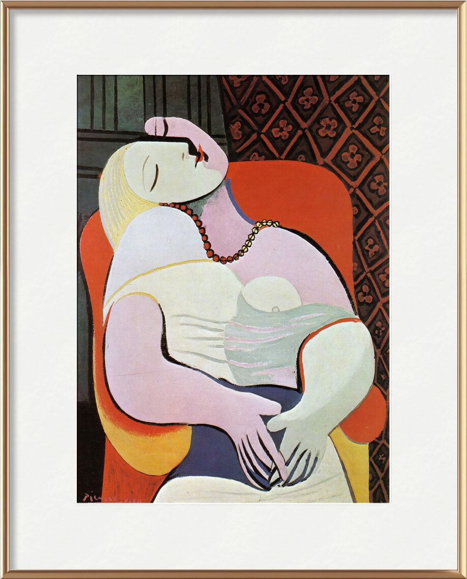 Le rêve - PABLO PICASSO de Aux Beaux-Arts, Prodi Art, femme, abstrait, dessin, peinture, peinture à l'huile, PABLO PICASSO, rêve, sommeil